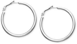 "Giani Bernini Medium Sterling Silver Tube Hoop Earrings, 1.5"""