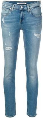 Calvin Klein Jeans skinny distressed jeans