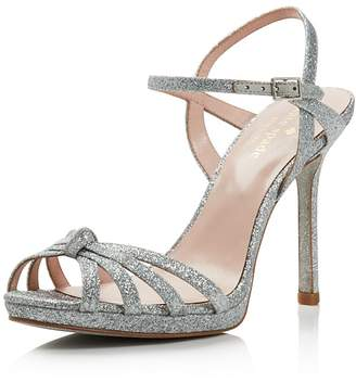 Kate Spade Women's Florence Glittered Leather High-Heel Sandals
