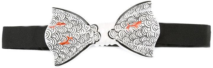 Cor Sine Labe DoliCor Sine Labe Doli fish pattern rigid bow tie