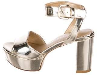 Stuart Weitzman Metallic Platform Sandals