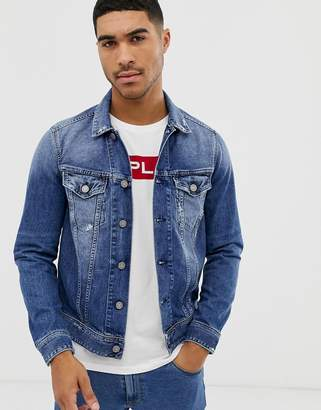 Replay denim jacket in mid wash