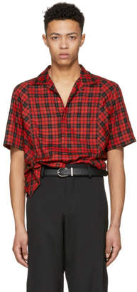 Lanvin Red Checkered Bowling Shirt