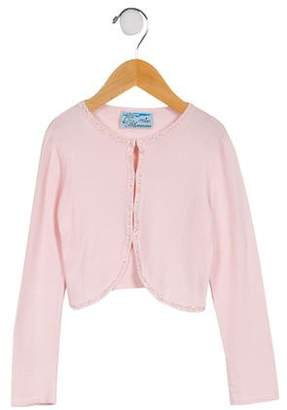 Miss Blumarine Girls' Embellished Cardigan