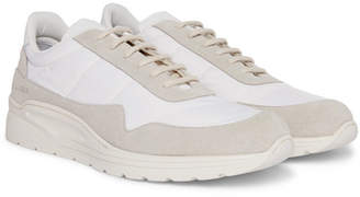 Common Projects Cross Trainer Suede, Nylon and Leather Sneakers - Men - White