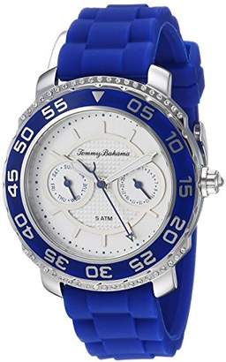 Tommy Bahama Women's Quartz Stainless Steel and Silicone Casual Watch
