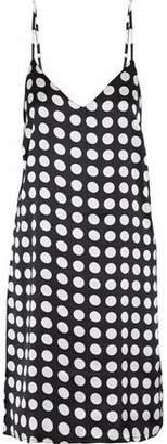 Walter W118 By Baker Effie Cutout Polka-Dot Satin Dress