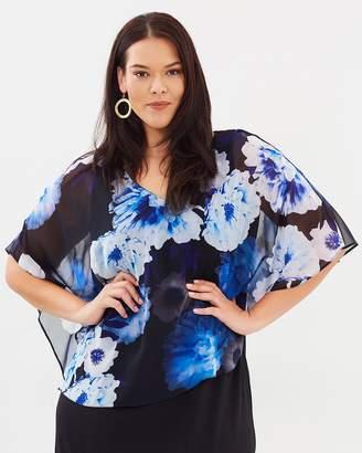 Evans Maxi Trim Overlay Dress