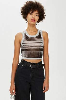 Topshop MeTallic Tank Top