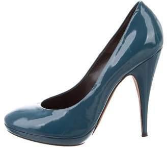 Nina Ricci Patent Leather Round-Toe Pumps