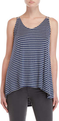 Max Studio Striped Jersey Tank