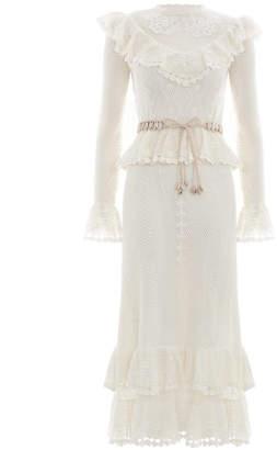 Zimmermann Allia Crochet Long Dress