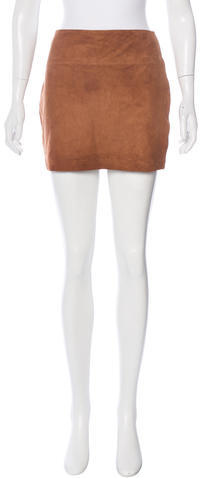 Alice + Olivia Alice + Olivia Suede Mini Skirt w/ Tags