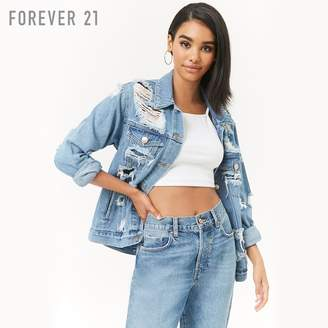 Forever 21 (フォーエバー 21) - Forever 21 ハードダメージデニムジャケット