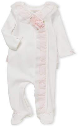 Miniclasix (Infant Girls) Floral Ruffle Footie