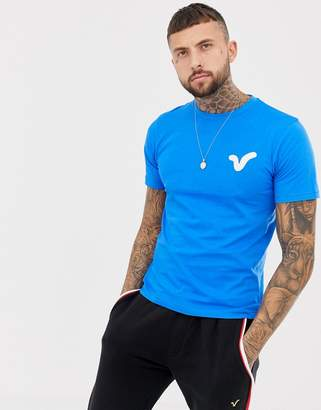Voi Jeans Applique Swirl Logo T-Shirt In Blue