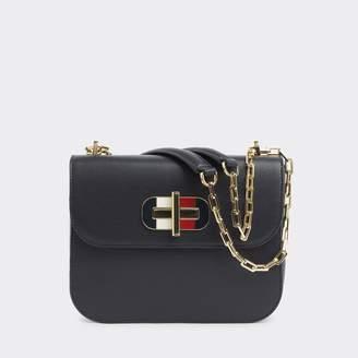 Tommy Hilfiger Leather Turnlock Crossbody Bag