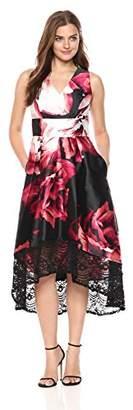 Sangria Women's Floral Hi Low Midi
