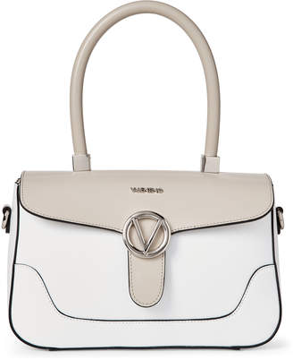 Mario Valentino Valentino By White & Sand Gaelle Leather Top Handle Satchel