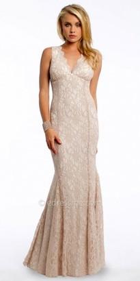 Sleeveless Giltter Lace V Neck Dress By Camille La Vie $140 thestylecure.com
