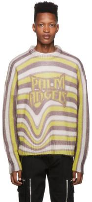 Palm Angels Multicolor Melting Stripes Crewneck Sweater