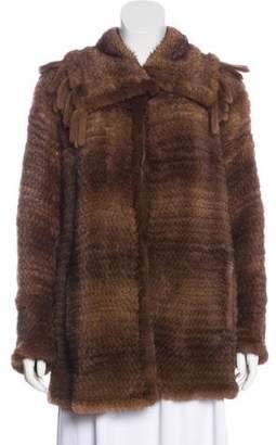 Cassin Knit Fur Coat