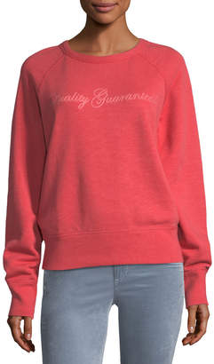 Rag & Bone The Raglan QG Chain-Stitch Cotton Sweatshirt