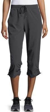 Andrew Marc Performance Sporty Cropped Relax-Fit Pants