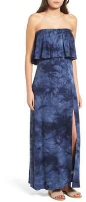 One Clothing Tie Dye Strapless Maxi Dress
