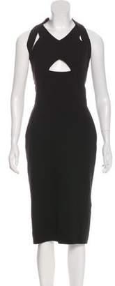 Victoria Beckham Wool & Silk Mini Dress Black Wool & Silk Mini Dress