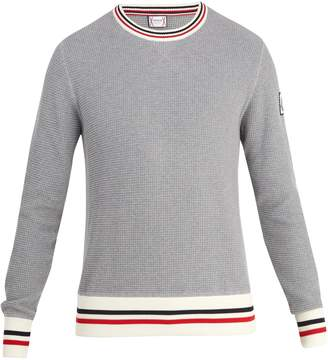 Moncler Gamme Bleu Crew-neck waffle-knit cotton sweater