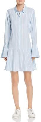 Equipment Tracy Flounced Shirt Dress