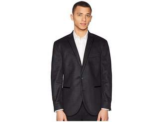 Kenneth Cole Reaction Black Textured Evening Coat