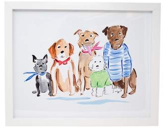 Boston Warehouse The Gang's All Here Framed Canvas Art