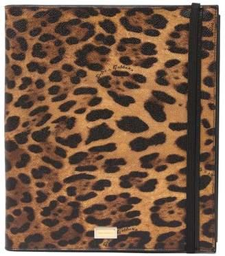 Dolce & Gabbana Cheetah Print Leather Tablet Case