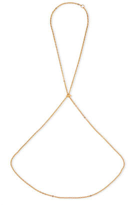 Saskia Diez Barbelle Gold-plated Body Chain