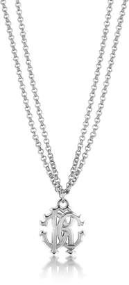 Roberto Cavalli RC Icon Metal Necklace w/Double Chain