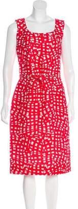 Oscar de la Renta Silk & Wool-Blend Sheath Dress