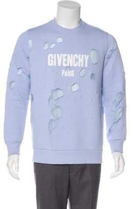 Givenchy 2017 Destroyed Logo Sweatshirt