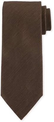 Ermenegildo Zegna Two-Tone Chevron Silk Tie, Brown/White