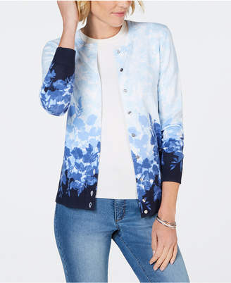 Karen Scott Printed Button-Up Cardigan, Created for Macy's
