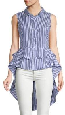 ENGLISH FACTORY Striped Collared Shirt