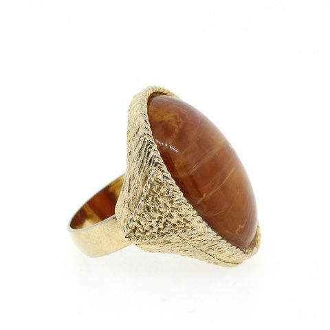 Lanie Lynn Vintage Jewelry Large Brown Stone Ring