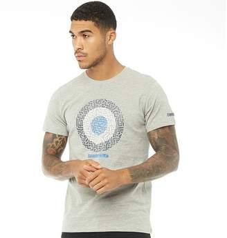 Lambretta Mens Geometric Target T-Shirt Grey