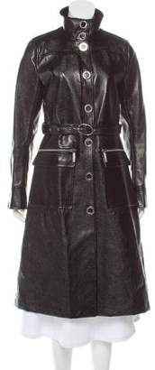 MICHAEL Michael Kors Faux Leather Trench Coat w/ Tags