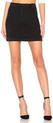 A Gold E AGOLDE Siouxise Zip Skirt.