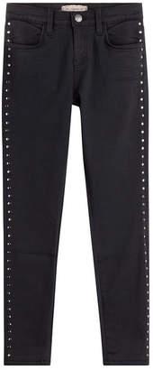 Current/Elliott Skinny Jeans with Stud Embellishment