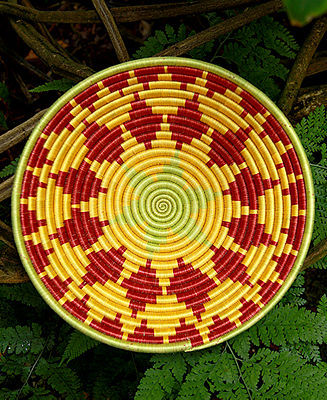 Fair Winds Trading Rwanda Basket, Sunshine Harvest Fruit Bowl 12