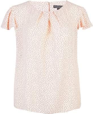 1b41dcfd1 Dorothy Perkins Womens   Billie   Blossom Curve Blush Angel Sleeve Top