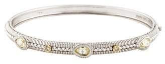 Judith Ripka Canary Crystal & Diamond Linen Bangle
